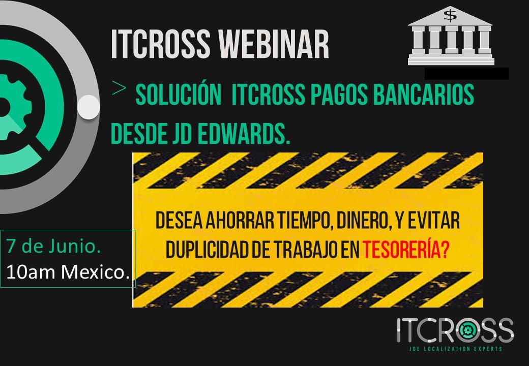 ITCROSS Webcast Solución Bancos Flyer